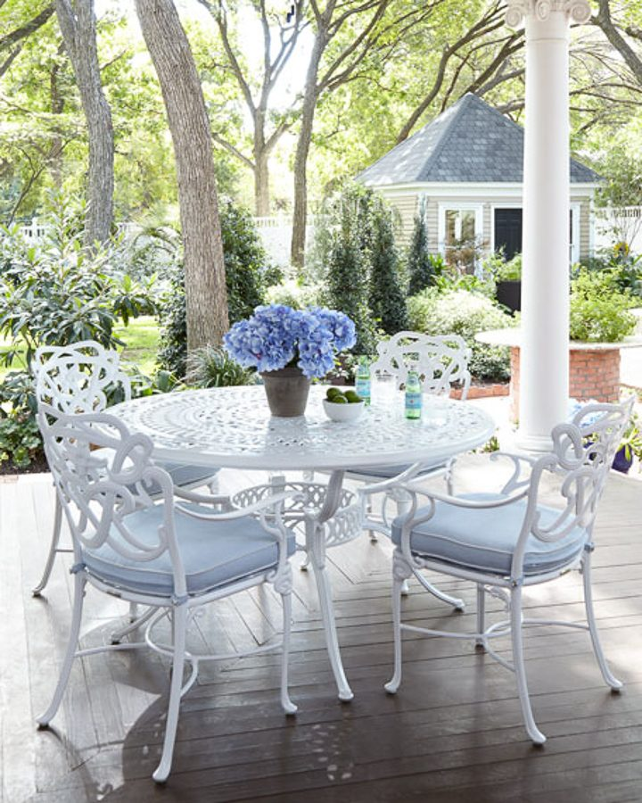 white metal patio furniture from horchow.com
