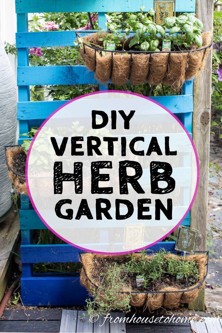 Easy DIY vertical herb garden