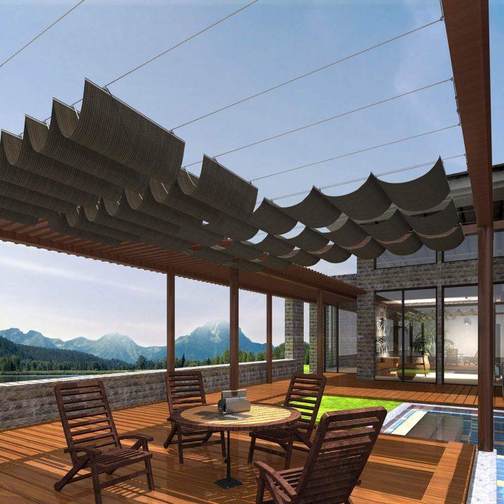 Retractable pergola canopy