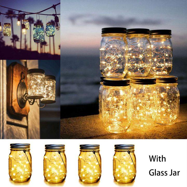 Solar mason jar outdoor lights