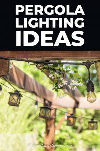 Pergola string lighting ideas