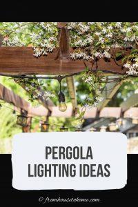 Pergola lighting ideas