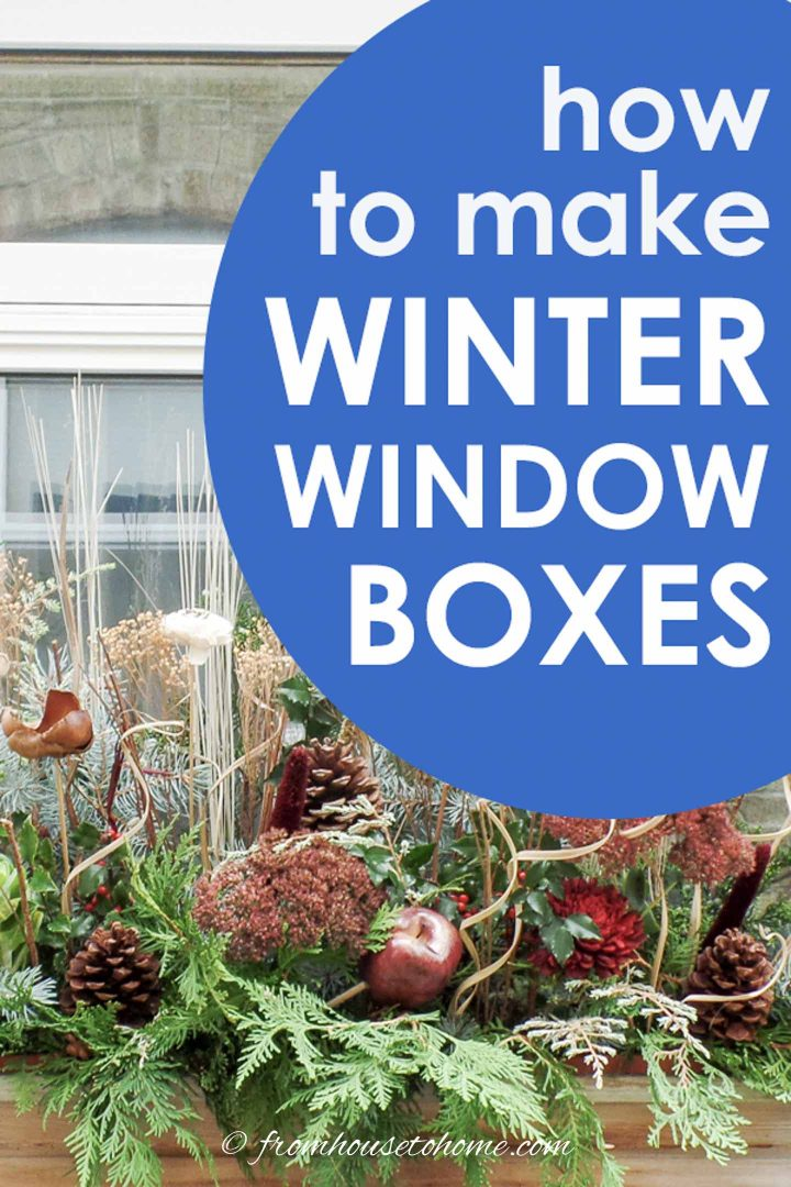 How to make winter window boxes