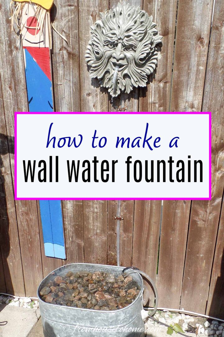 How to make a DIY wall water fountain