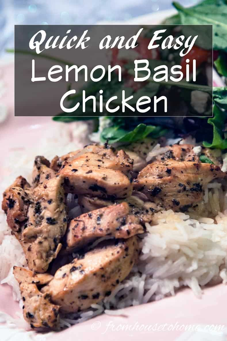 Quick and Easy Lemon Basil Chicken
