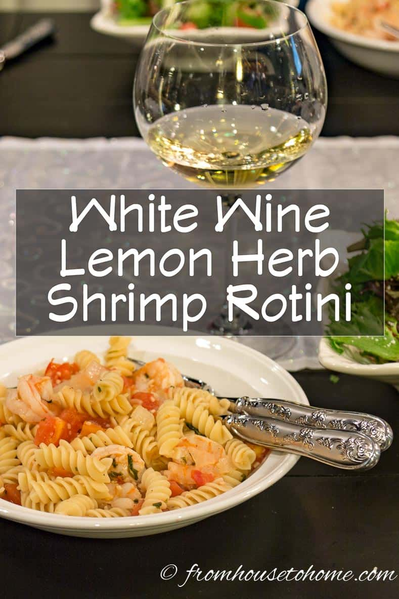 White Wine Lemon Herb Shrimp Rotini