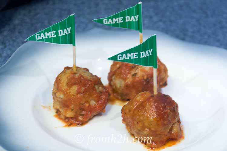 Game Day Crock Pot Meatballs
