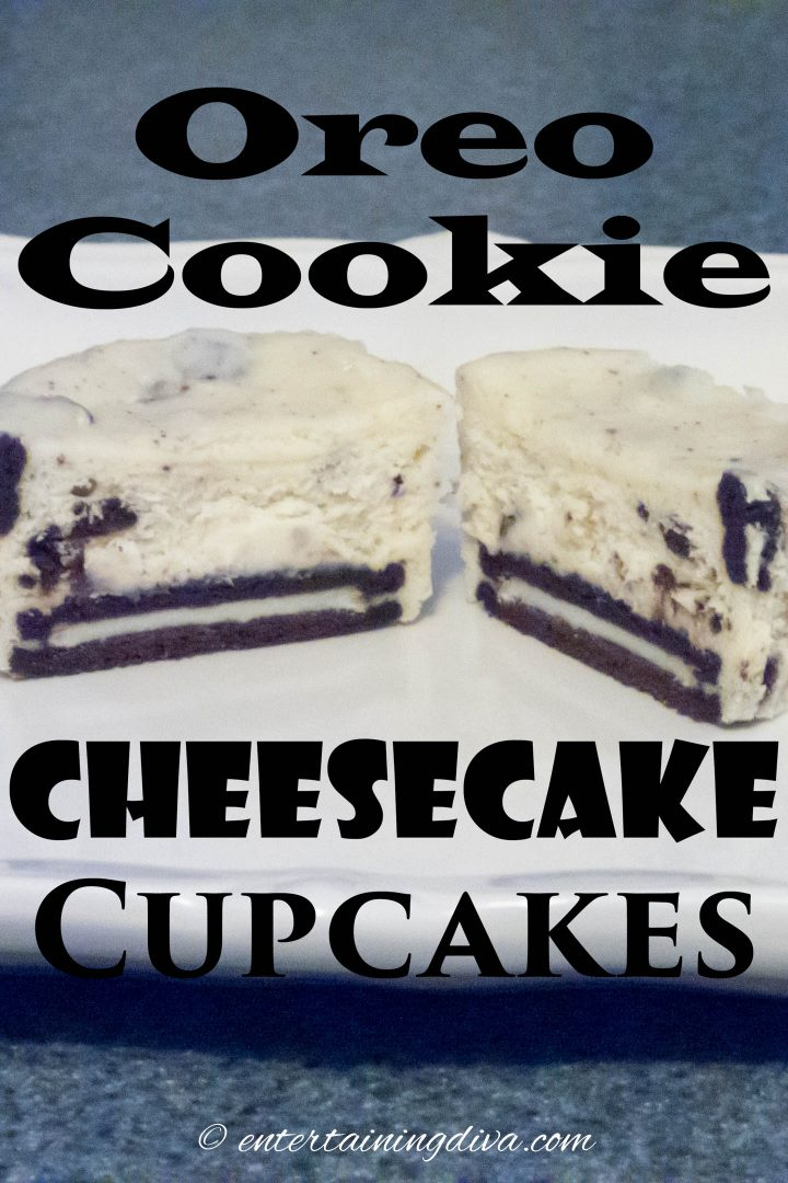 oreo cookie cheesecake cupcakes