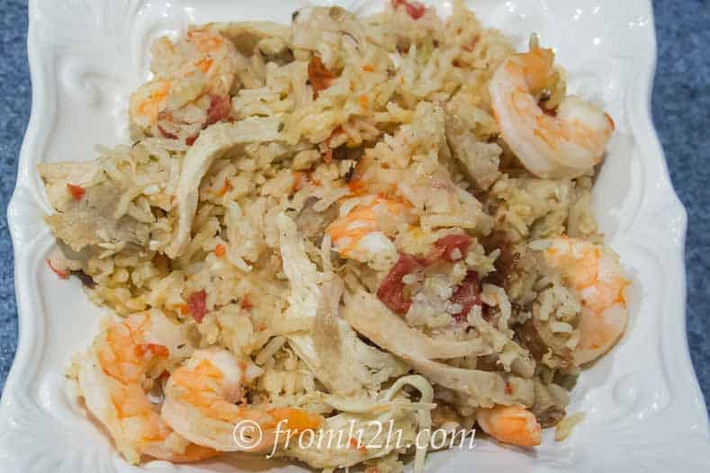 Shrimp, Chicken and Sausage Jambalaya | www.fromhousetohome.com/recipes