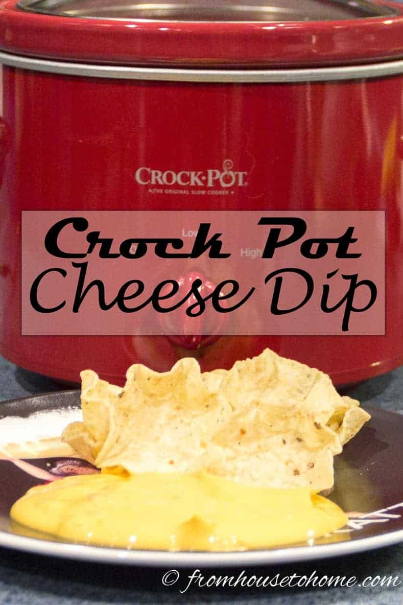 Easy crock pot cheese dip – a crowd favorite!