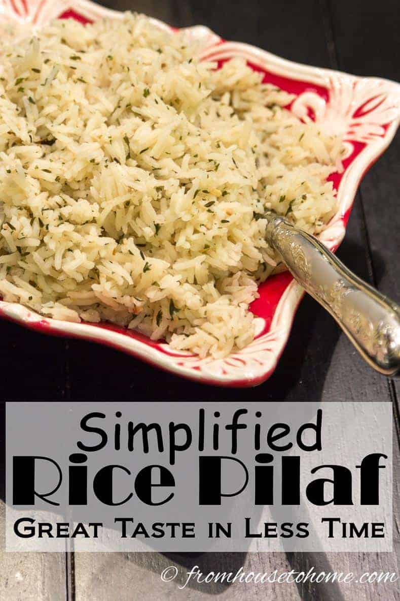 Simplified Rice Pilaf: Great taste in less time
