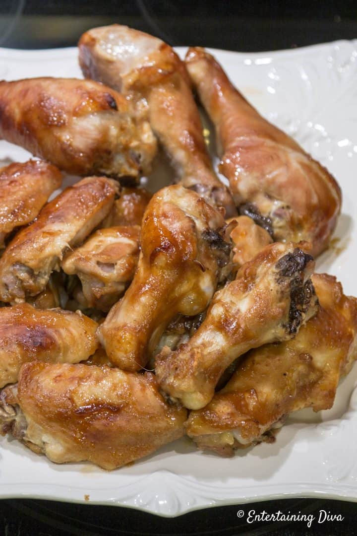 Game day baked honey glazed chicken wings
