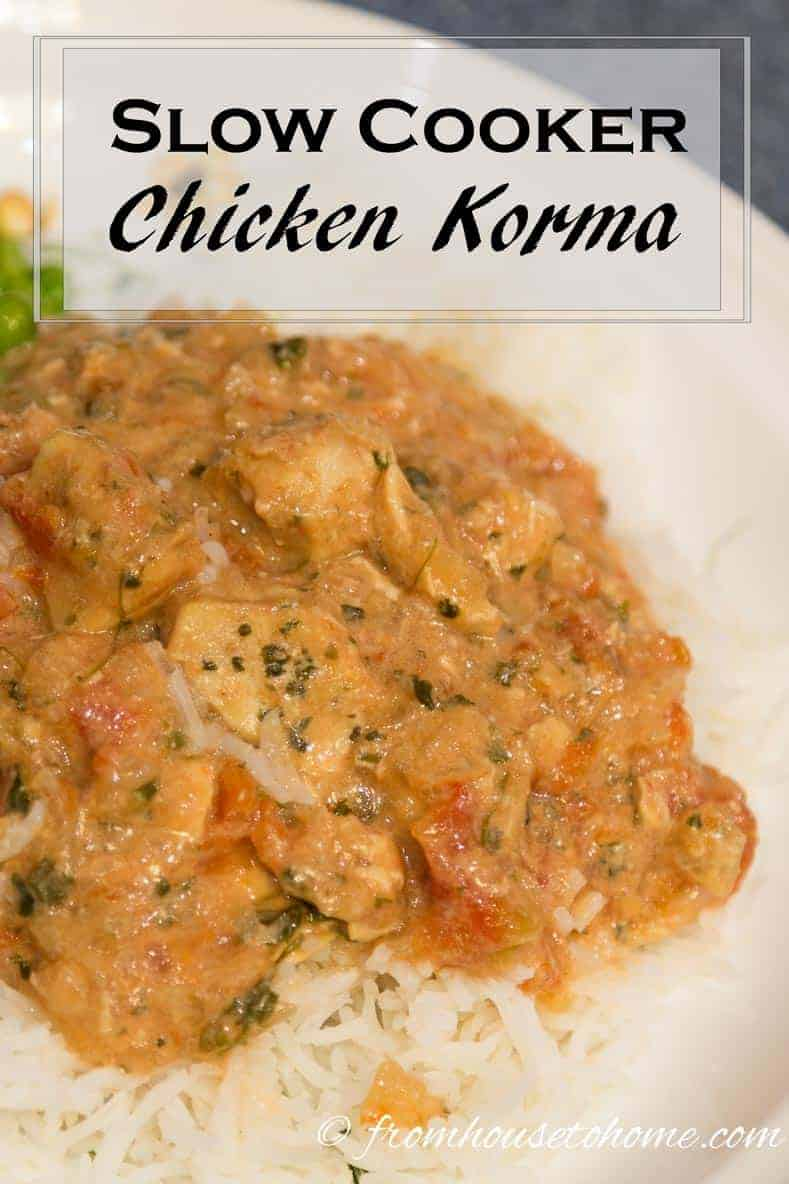 Slow cooker chicken korma | This slow cooker chicken korma recipe is really easy to make and tastes delicious.