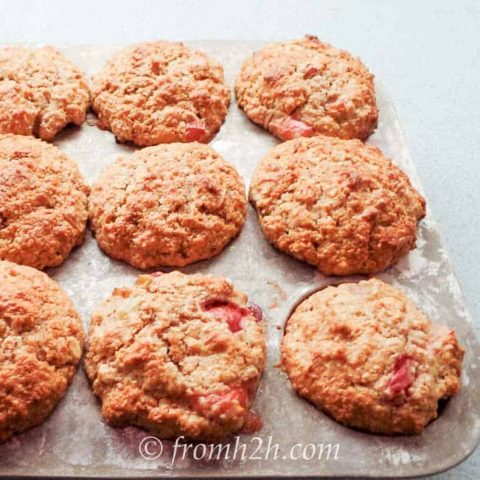 Strawberry Rhubarb Bran Muffins