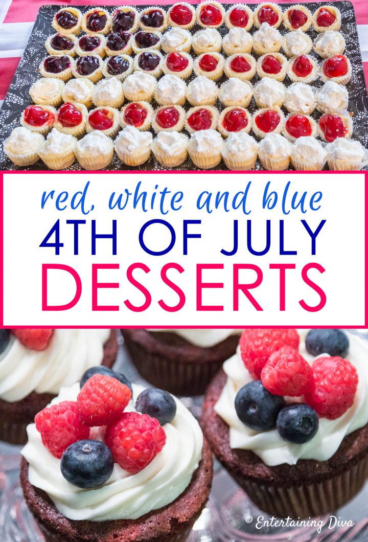 Red, white and blue 4th of July desserts
