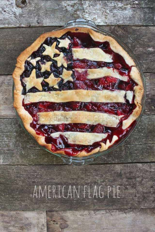 American Flag Berry Pie (via colorsandcraft.com) | 4th of July Desserts That Are Perfect For A Cook Out