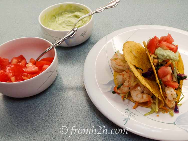 Serve shrimp tacos with your favorite toppings | Shrimp Tacos
