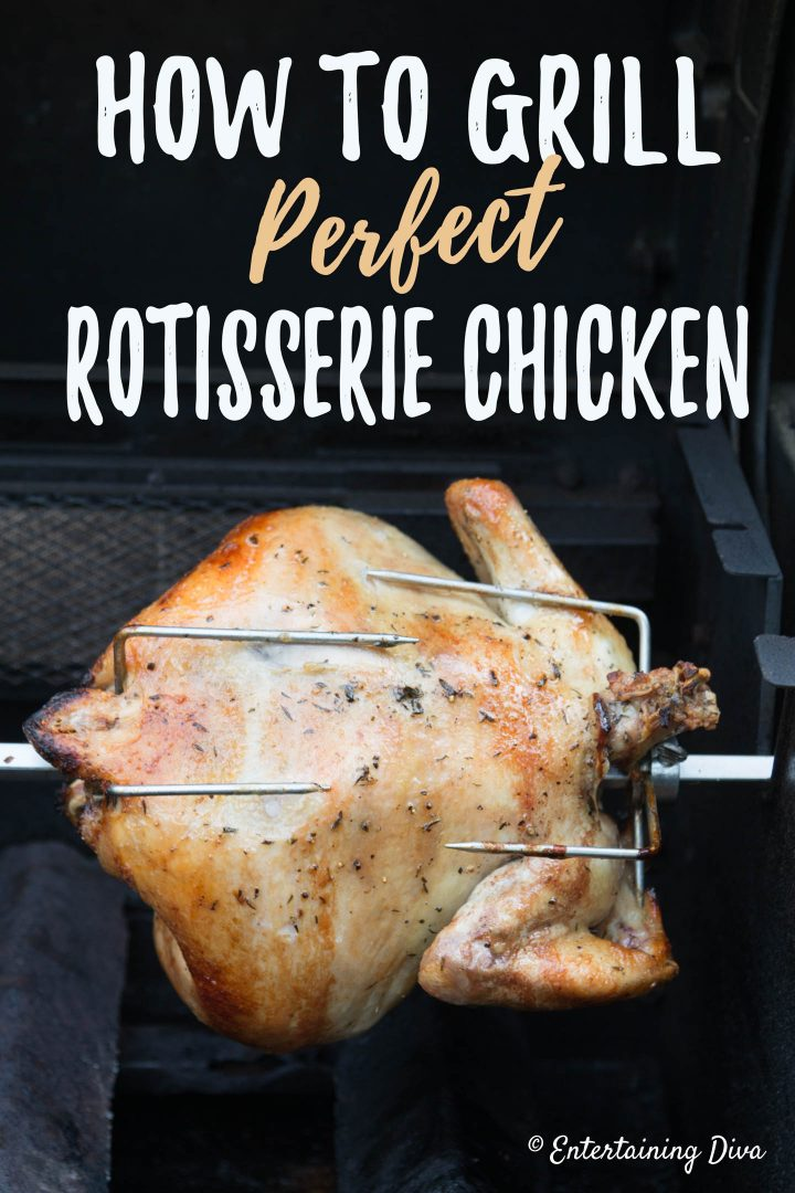 How to grill perfect rotisserie chicken