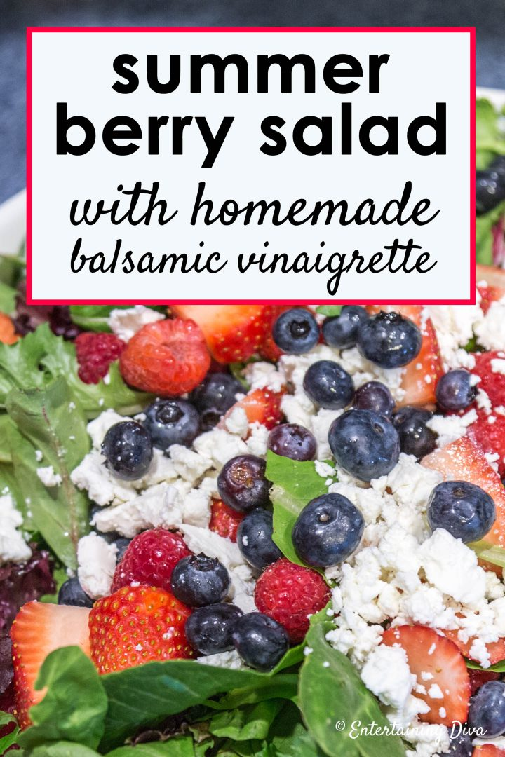 Berry salad recipe with balsamic vinaigrette