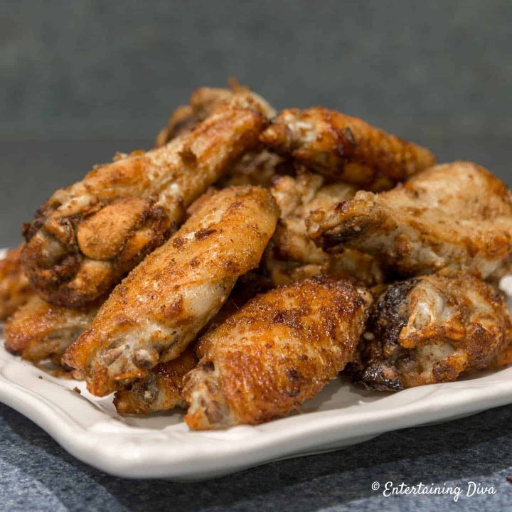 Asian spice chicken wings