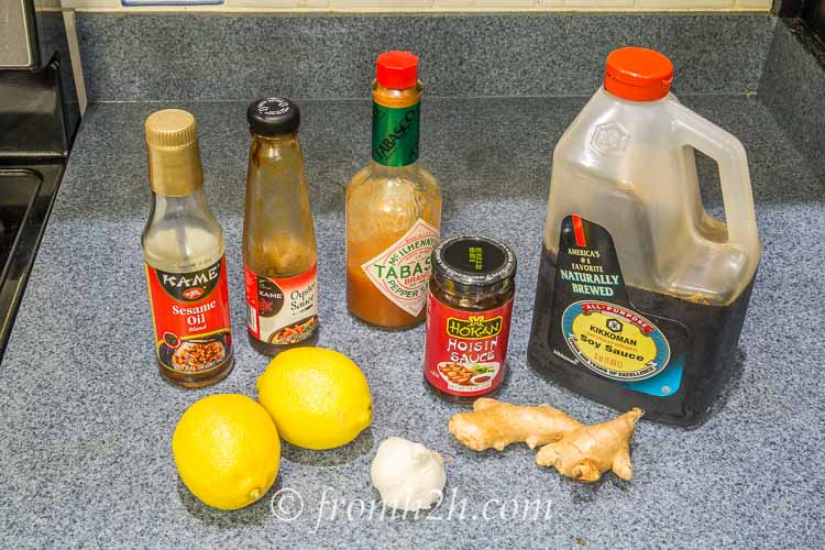 Oriental Lemon Ginger Wings Ingredients