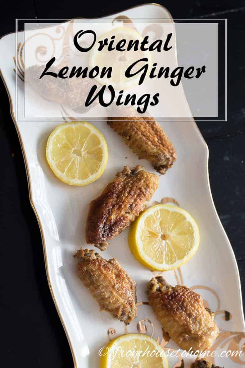 Oriental Lemon Ginger Wings | Looking for a wing recipe that is easy to serve for a crowd? These oriental lemon ginger wings are easy to make, don't take long to cook, and taste great!