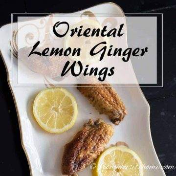Oriental Lemon Ginger Wings