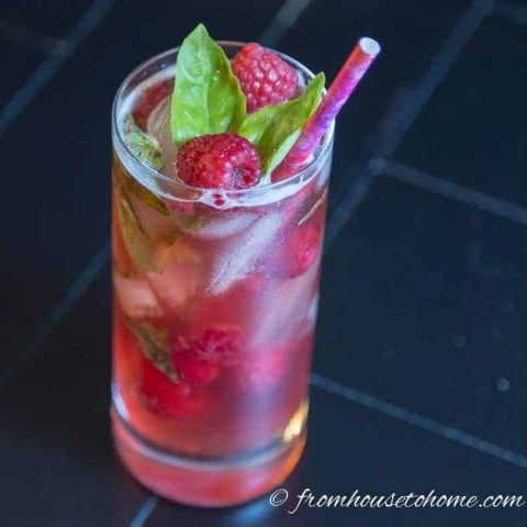 pomegranate basil virgin mojito