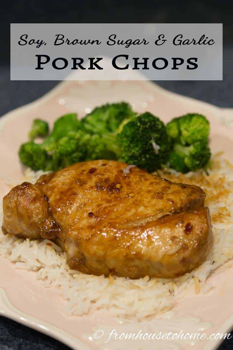 Looking for a quick and easy weeknight meal? Try this recipe for Soy, Brown Sugar and Garlic Pork Chops