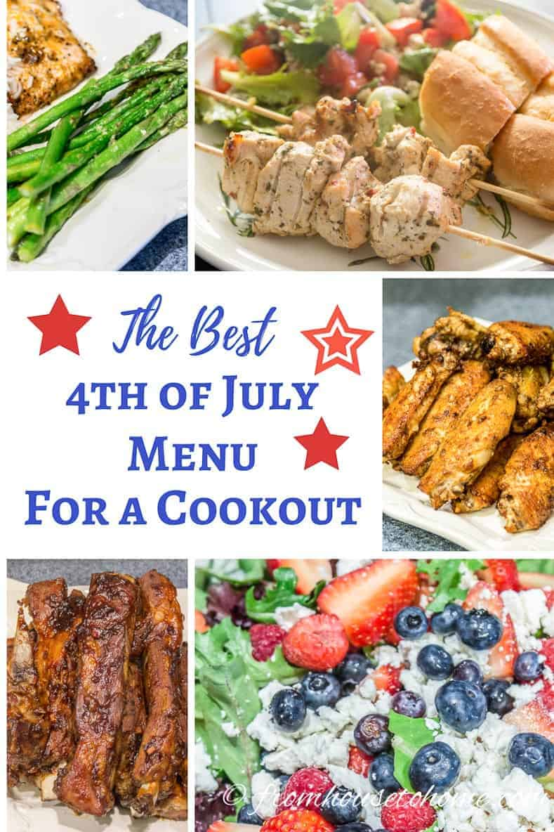 The Best 4th of July Menu For a Cookout | If you are looking for some food ideas for your 4th of July party, this 4th of July menu will definitely help. It has some some easy recipes that are great for a cookout.