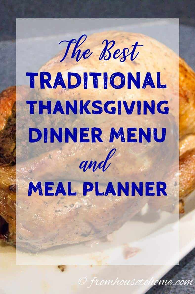 Tradtitional Thanksgiving Dinner Menu