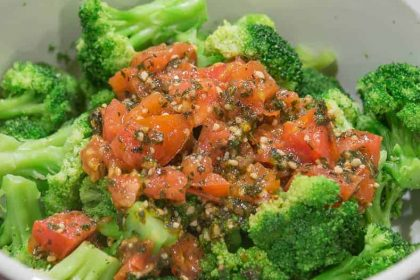 Tomato and herb broccoli