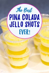 Coconut cream pudding pina colada jello shots