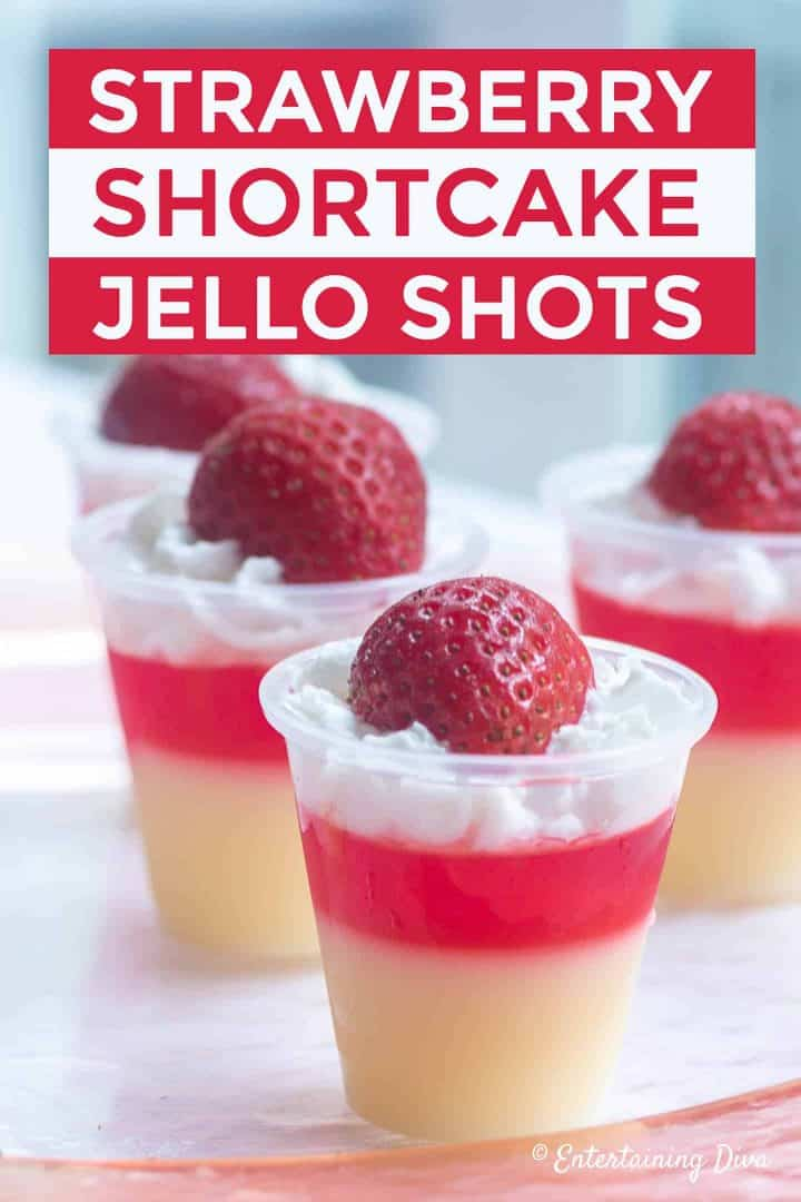 Strawberry Shortcake Jello Shots Recipe