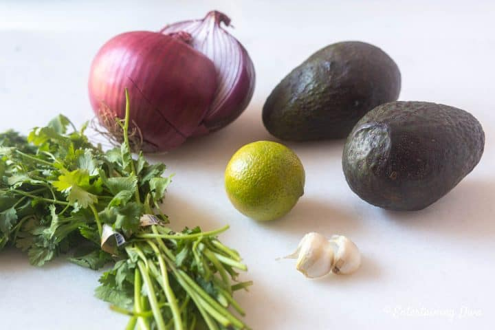 Avocado guacamole dip ingredients