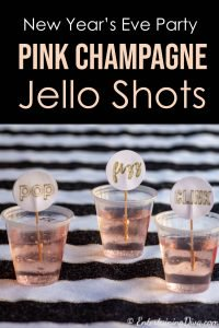 New Year's Eve Party Pink Champagne Jello Shots recipe