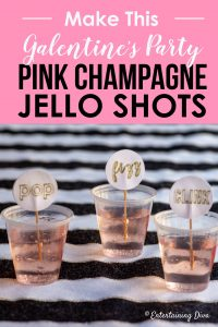 Galentine's party pink champagne jello shots recipe