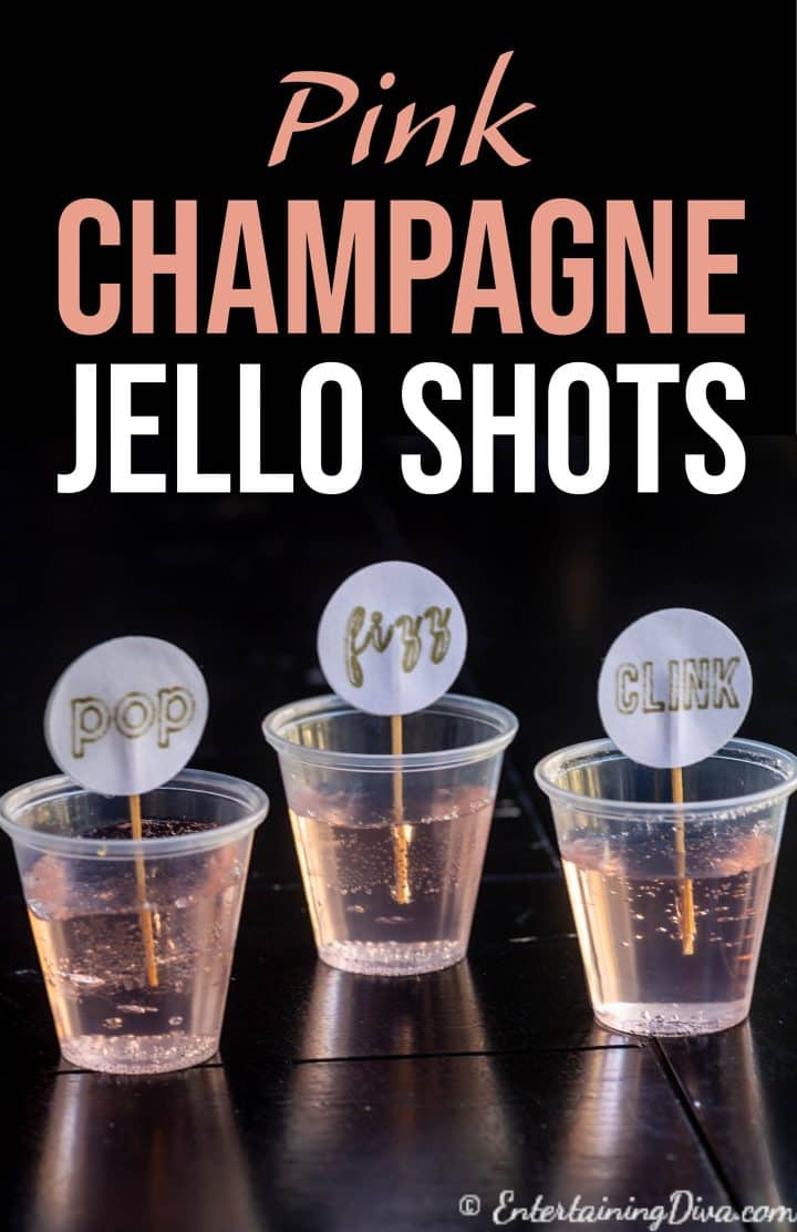 Pink champagne jello shots recipe