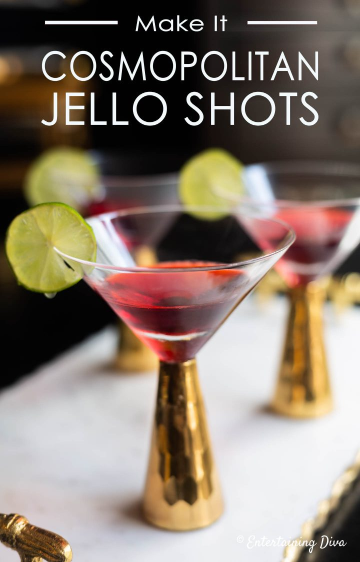 Cosmopolitan jello shots recipe