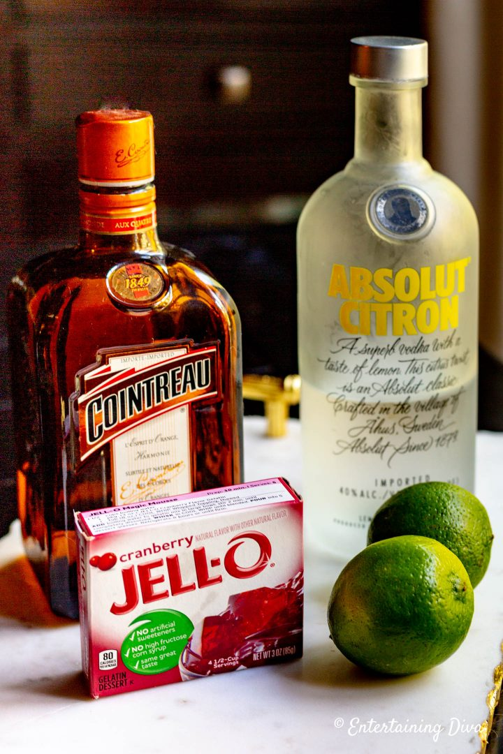 Cosmopolitan jello shots ingredients
