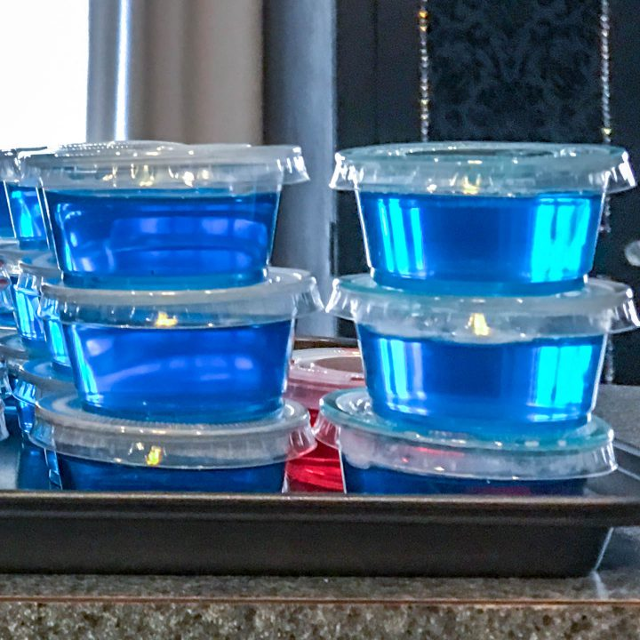 Sour apple blue jello shots recipe