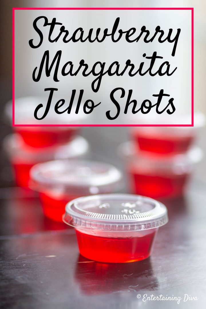 Strawberry Margarita Jello Shots recipe