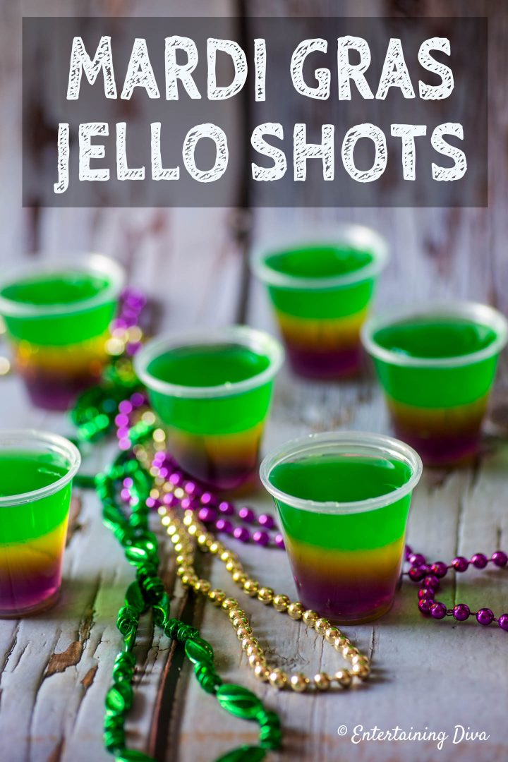 Mardi Gras jello shots recipe