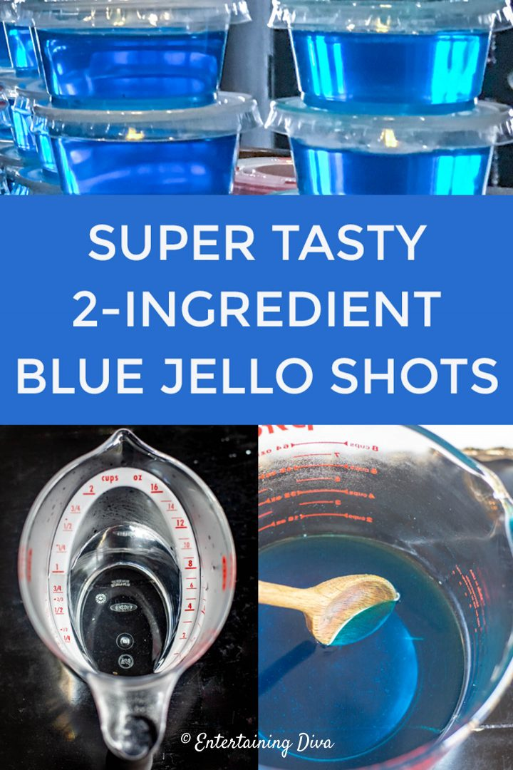 super tasty 2-ingredient blue jello shots