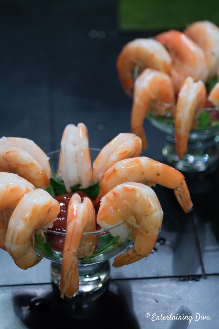 Classic Shrimp Cocktail with seafood sauce