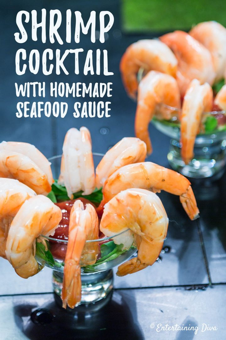 Shrimp Cocktail with homemade seafood sauce