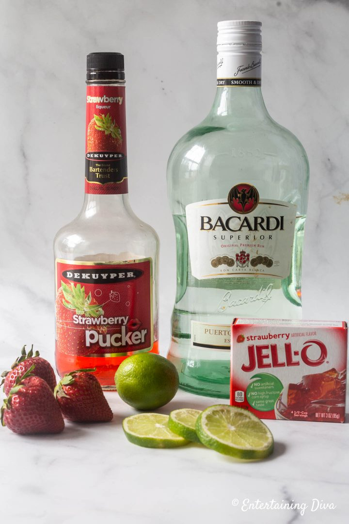 Strawberry daiquiri jello shot recipe ingredients