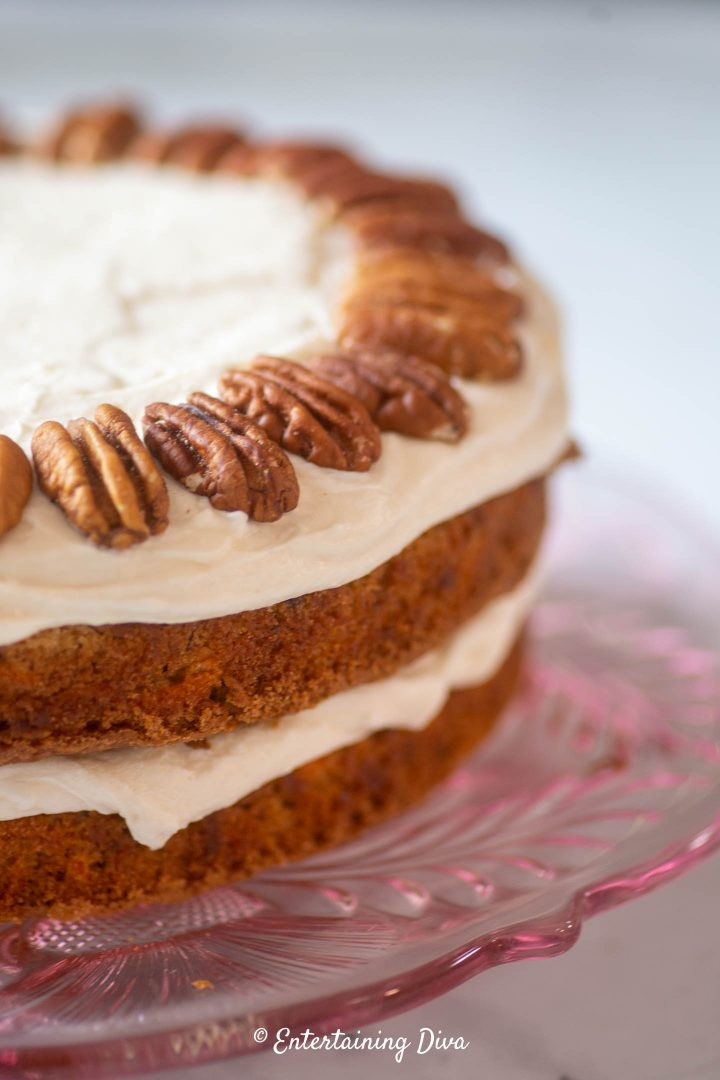 Carrot cake as a layer cake