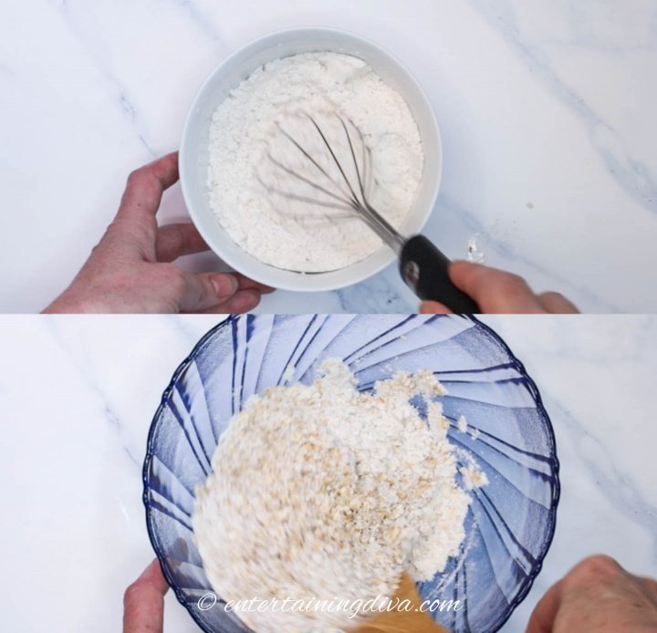 how to mix flour and oatmeal mixture
