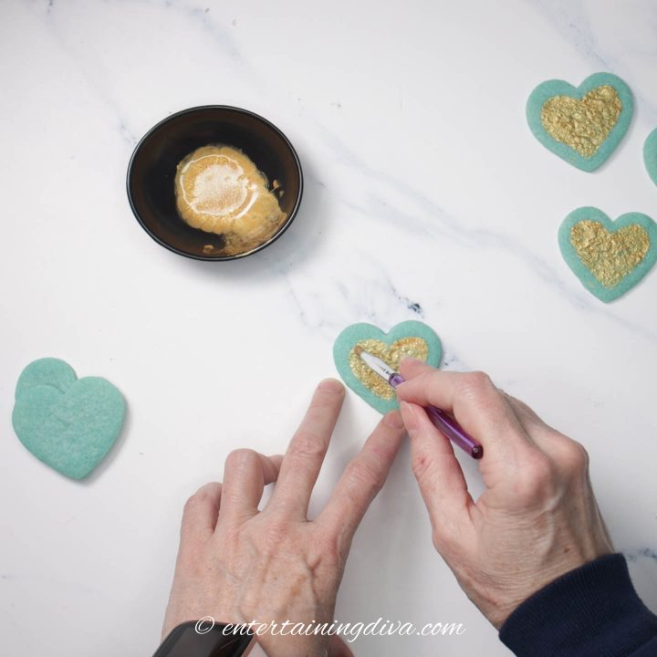 How to paint sugar cookies with edible paint
